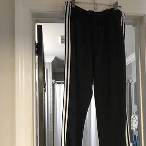 Men's Adidas track pants, size L, black/white